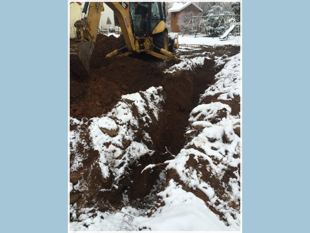 Sewer Trenching